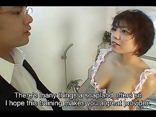 Ondertiteld Ongecensureerde Classic Japans AV blowjob En titjob