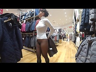 Seamless pantyhose without panties period another shopping