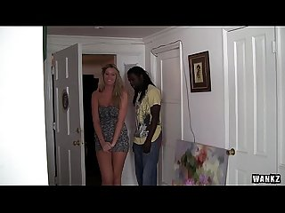 WANKZ- Slutty White Chick Bangs Her First Black Stud
