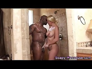 Interracial blonde masseuse hoe