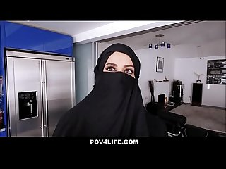 Busty arabic teen violates her religion pov