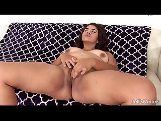 Cute chubby girl uses sex toys