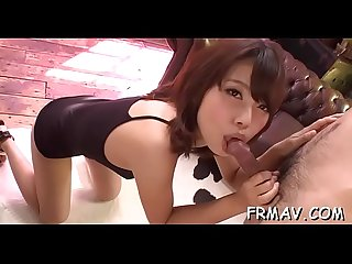 Breathtaking asian dazzles with fantastic oral stimulation skill