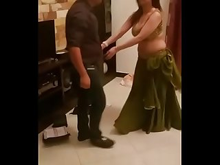 Indian sexy girl doing mujra in front of customers on bollywood song