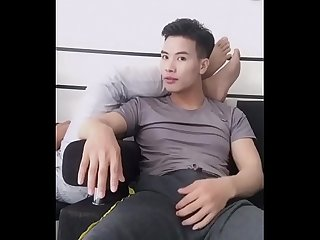 Asian Horny guy on live