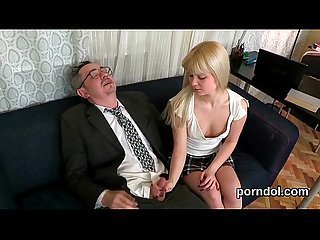 Lovely schoolgirl is seduced and screwed by her older tutor