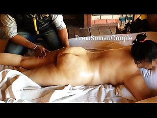 Desi wife Suman getting nude massage hubby filming part 1