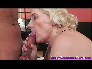 Busty mature pussyfucked by younger cock