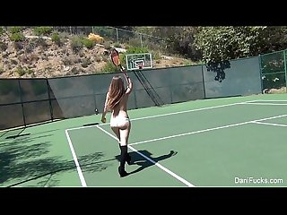 Dani daniels topless tennis fun
