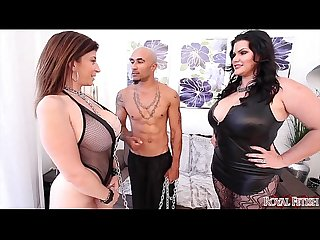 King noire and angelina castro dominate sara jay bbw threesome