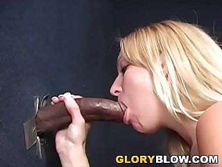 Blonde Ruth Blackwell Jerks And Sucks Black Cock - Gloryhole