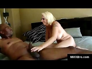 Black stud lies Mandy back for a rough pussy punishment