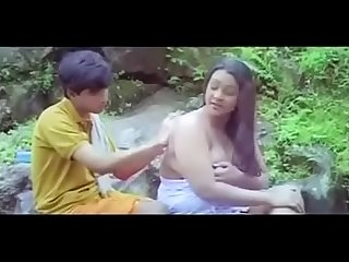Hot dessi girl seduce a boy in water