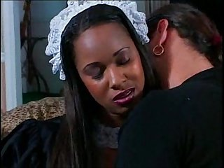 Black maid cleans up the boss S dick