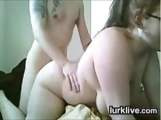 BBW Riding On Her Boyfriends Cock