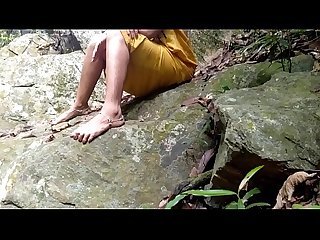 Fucking Indian Mom Near Waterfall Forest Outdoor Sex