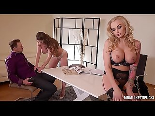 Busty milf kayla green threesome fuck with lawyer cathy heaven