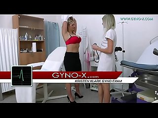 Busty beauty kristen klark gyno exam
