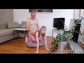 Juvenile babe rides old crock