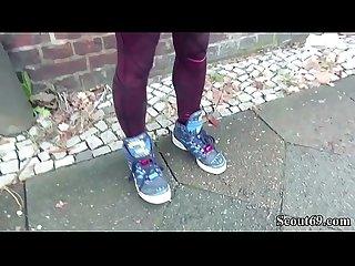German scout skinny emo teen luna in street porn casting