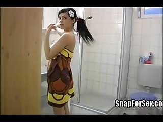 Sexy teen from snapforsex fucked in bathroom