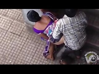 Beautiful Indian woman has doggystyle sex in public voyeurstyle.com
