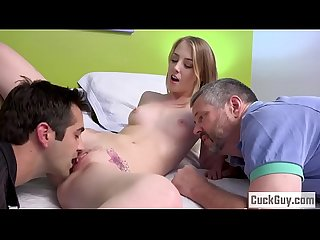 Cuckold husband reveals his wife's affair and enjoys watching it