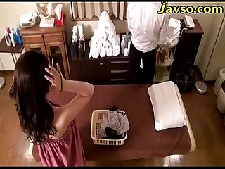 Married woman oil massage salon