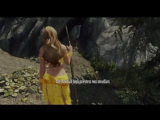 Sexy priestess captured, dominated, and gangbanged by monsters Skyrim 3d hentai