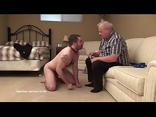 Old Teacher Trains/Spanks Puppy CMNM