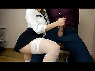 Office slut secretary gives blowjob to her boss while no one sees sex with A Hot blonde