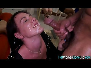 Real party slut facial