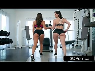 Fitness Babes Abigail Mac & Kendra Lust Share One Lucky Boy