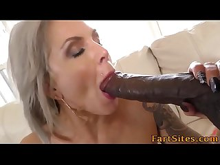 Milf gets bbc mouth cum
