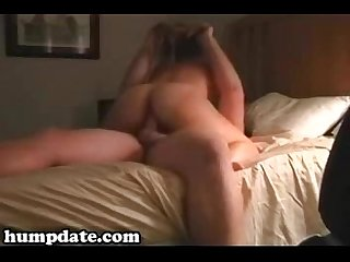 Sweet wife gives blowjob and rides cock