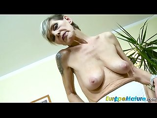 EuropeMaturE Slim Granny Ivana Solo Fingering