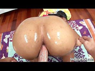 Ebony slut Myeshia Nicole anal sex