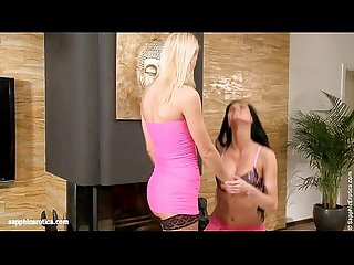 Pretty in Pink - by Sapphic Erotica lesbian sex with Danae Uma
