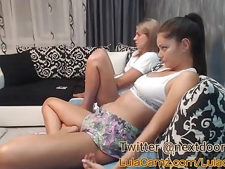 Hot Lesbian Plays With Her Friend on Cam Then Squirts
