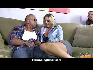 Hot milf takes on 11 inch huge monster black cock 16