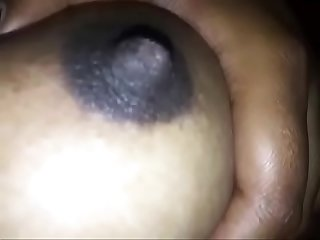 Swan220 indian sexy girl playing with her tits while Sleeping