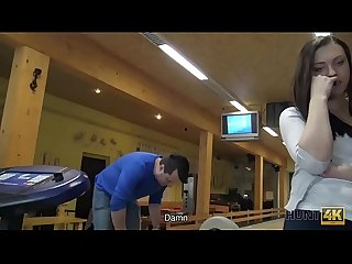 HUNT4K. Cuckold allows guy please his cute GF right in bowling club