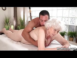 Old mom Norma enjoys sex after massage