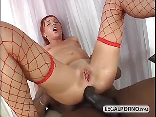 Big black cock fucking a sexy redhead in the ass bmp 3 04