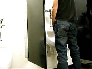 Clip Jackoff in public washroom new