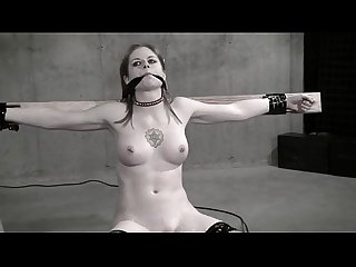 Wasteland bondage Sex Movie Sexy dominatrix in white latex pt 2