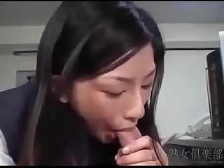 Beautiful office girl ran asakawa