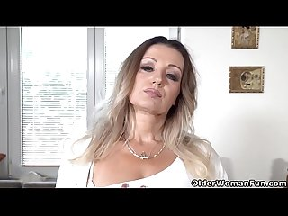 European milf Mia satisfies her needy cunt