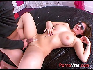 Teen first porno with a stranger!! French amateur