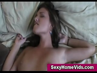 Girl sucking bf in real home video